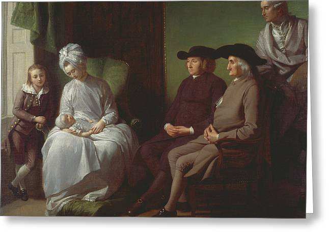 The Artist And His Family Greeting Card by Benjamin West