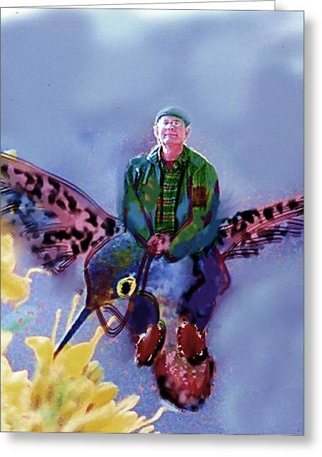 The Artist Can Do Anything Greeting Card by Dave Kwinter
