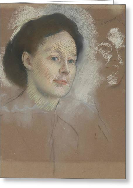 The Artist's Cousin, Probably Mrs. William Bell Greeting Card
