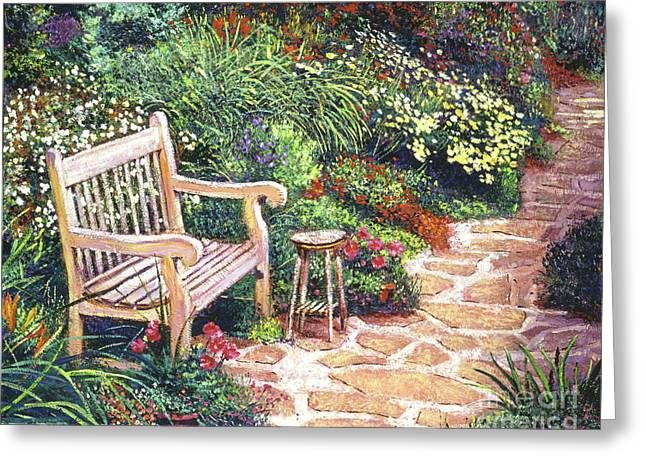 The Artist's Sunbench Greeting Card