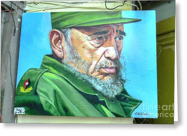 The Arts In Cuba Fidel Castro Greeting Card