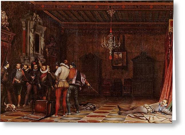 The Assassination Of The Duc De Guise Greeting Card