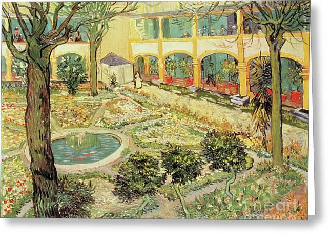 The Asylum Garden At Arles Greeting Card