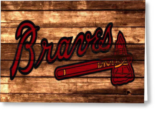 The Atlanta Braves 3a     Greeting Card by Brian Reaves