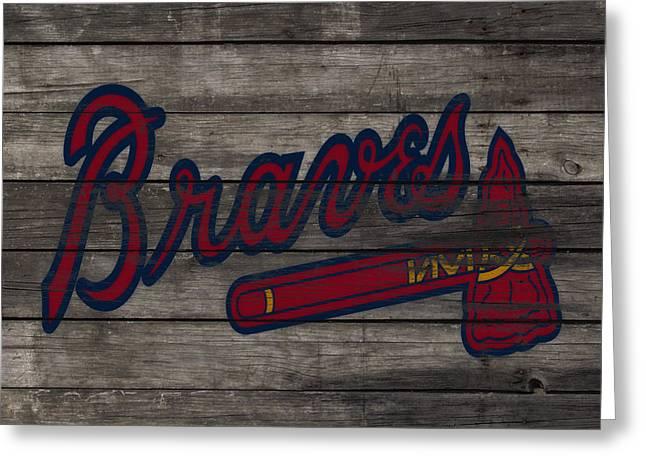 The Atlanta Braves 3e     Greeting Card by Brian Reaves