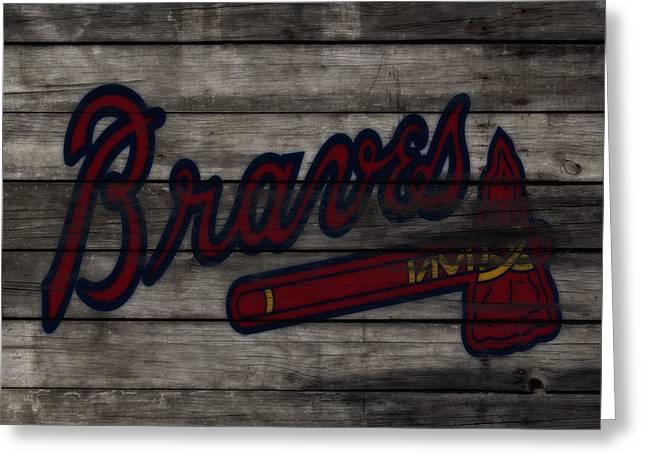 The Atlanta Braves 3f    Greeting Card by Brian Reaves