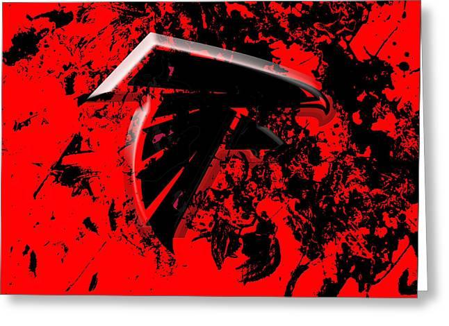 The Atlanta Falcons 1c Greeting Card by Brian Reaves