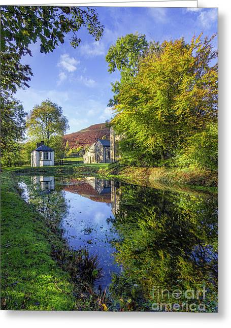 Greeting Card featuring the photograph The Autumn Pond by Ian Mitchell