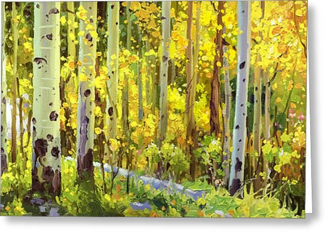 The Autumn Road..... Greeting Card by Gary Kim