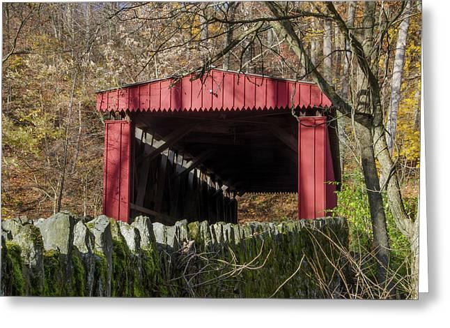 The Autumn Season - Thomas Covered Bridge Greeting Card