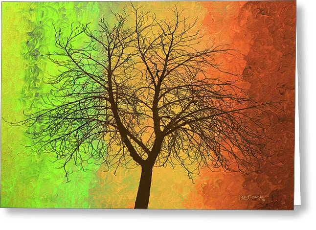 The Autumn Tree Greeting Card by Ken Figurski