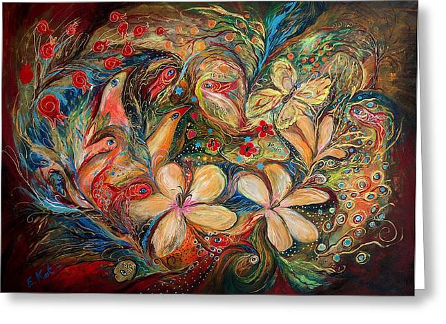 The Autumn Wind Greeting Card by Elena Kotliarker