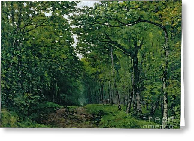 The Avenue Of Chestnut Trees Greeting Card