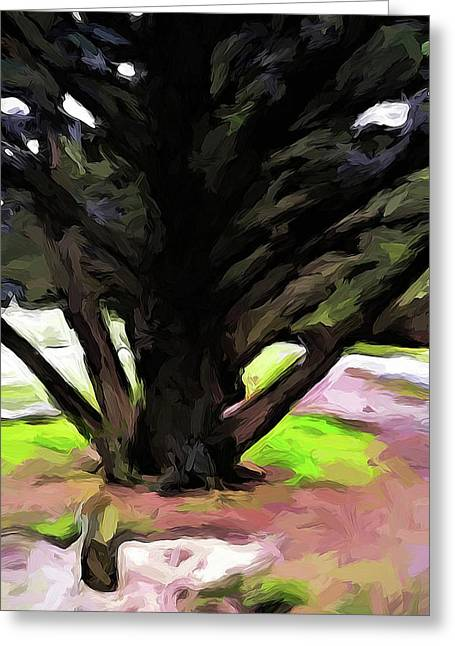 The Avenue Of Trees 1 Greeting Card
