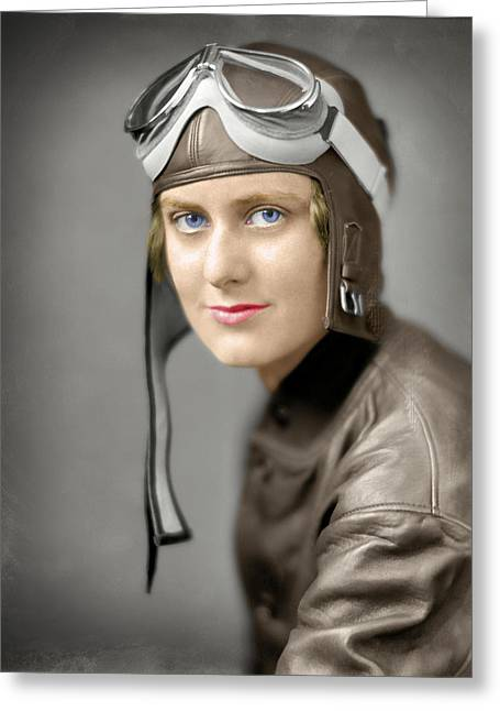 The Aviatrix  1920 Greeting Card
