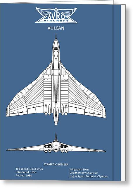 The Avro Vulcan Greeting Card by Mark Rogan