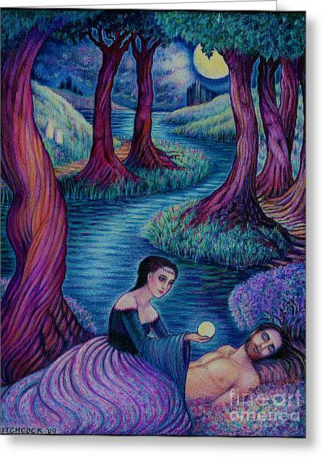 The Awakening Greeting Card by Debra A Hitchcock