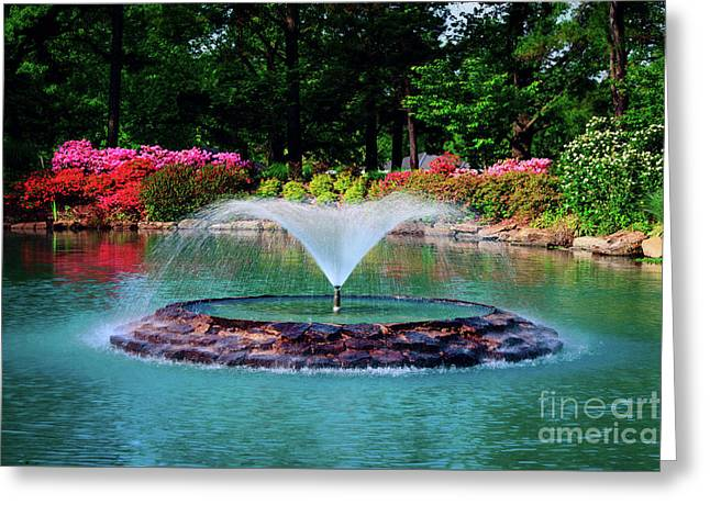 The Azalea Pond At Honor Heights Park Greeting Card by Tamyra Ayles