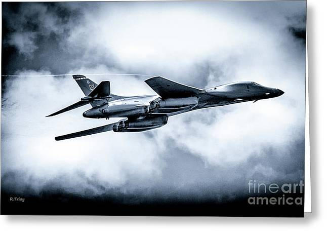 The B-1 Bomber Referred To As The Bone Greeting Card