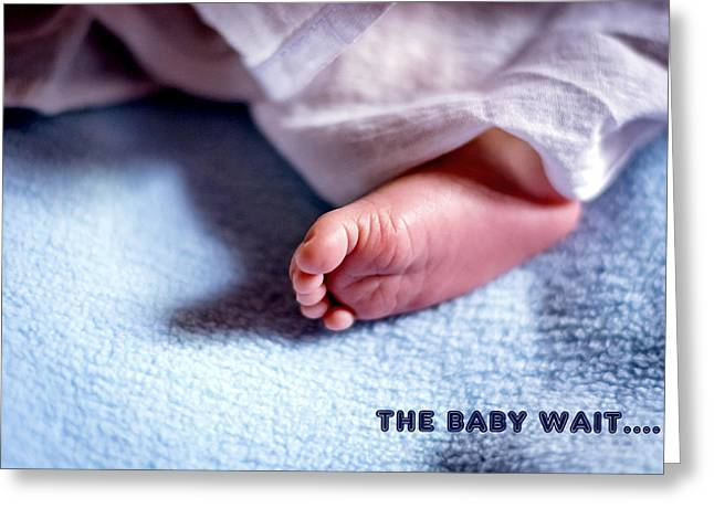 The Baby Wait Greeting Card by Jijo George