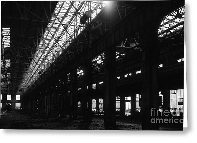 Maintenance Facility Greeting Cards - The Back Shop Greeting Card by Richard Rizzo
