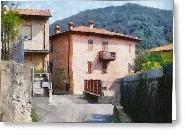 The Back Street Towards Home Greeting Card by Jeff Kolker