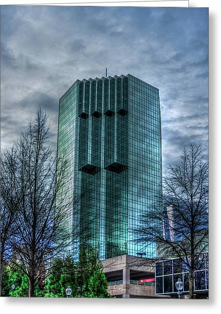 The Backyard Tower Place 100 Buckhead Atlanta Art Greeting Card by Reid Callaway