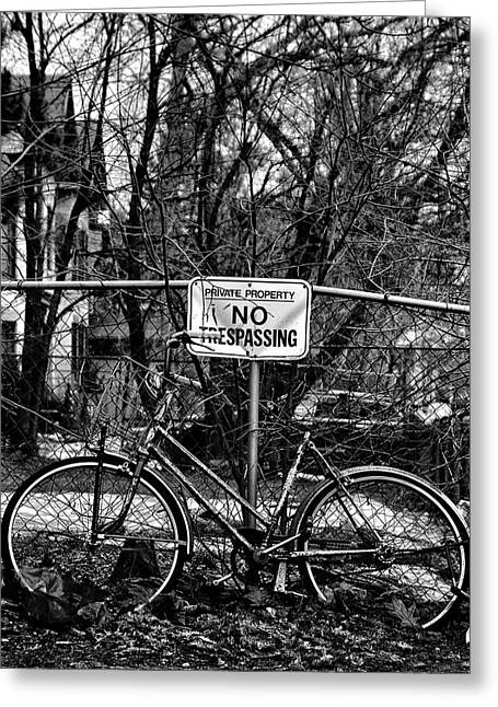 The Bad Bicycle No 2 Greeting Card by Brian Carson
