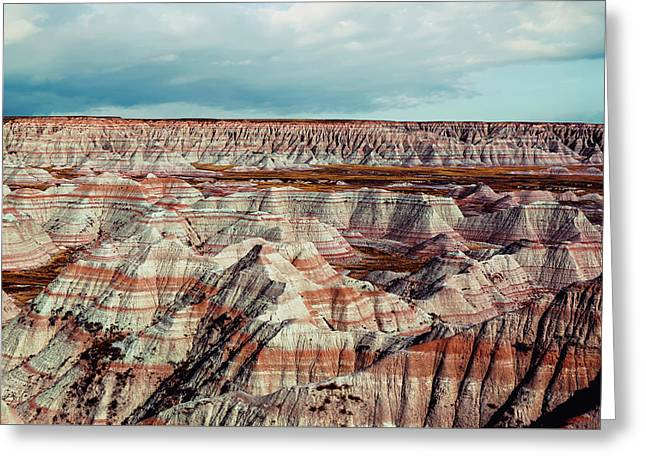 The Badlands Of South Dakota I Greeting Card by Tom Mc Nemar