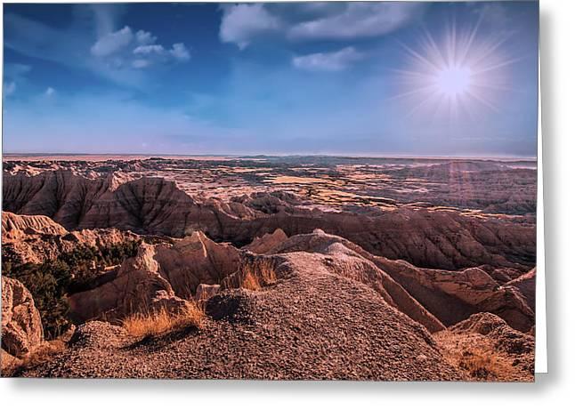The Badlands Of South Dakota II Greeting Card by Tom Mc Nemar