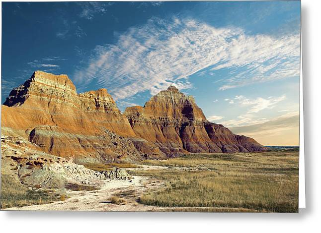 The Badlands Of South Dakota Greeting Card