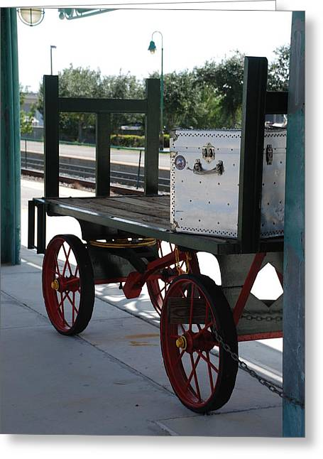The Baggage Cart And Truck Greeting Card by Rob Hans