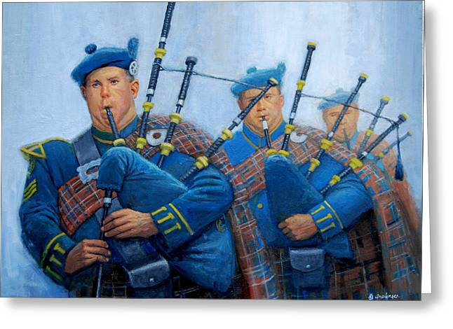 The Bagpipers Greeting Card