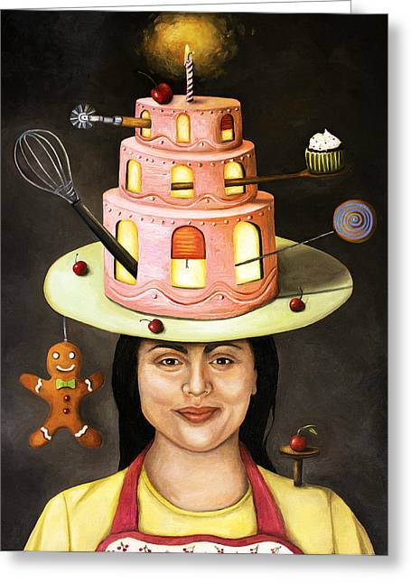 The Baker Greeting Card by Leah Saulnier The Painting Maniac