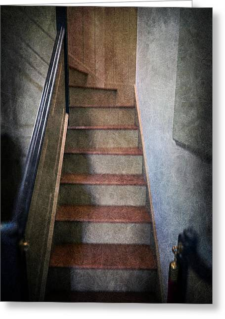 The Balcony Stairs Greeting Card by Brian Wallace