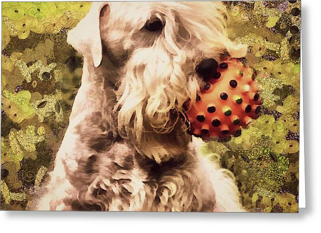 The Ball Greeting Card by Janice MacLellan