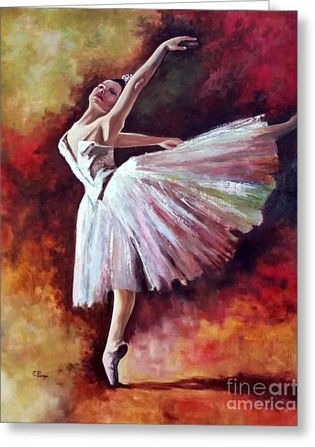 The Dancer Tilting - Adaptation Of Degas Artwork Greeting Card