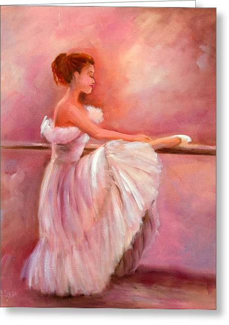The Ballerina Greeting Card by Sally Seago