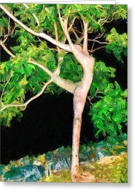 The Ballerina Tree - Da Greeting Card by Leonardo Digenio
