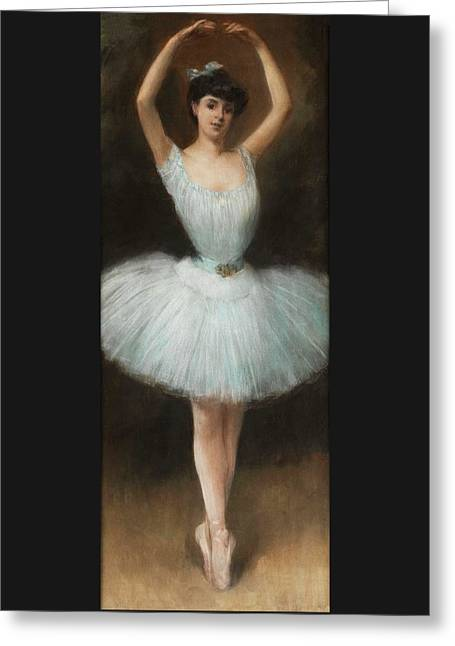 The Ballet Dancer By Pierre Carrier Belleuse 1932 Greeting Card by Movie Poster Prints