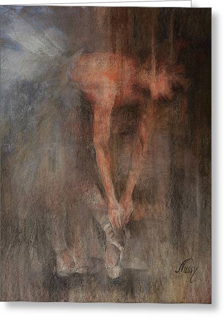 The Ballet Dancer Swan Lake Greeting Card by Elisabeth Nussy Denzler von Botha