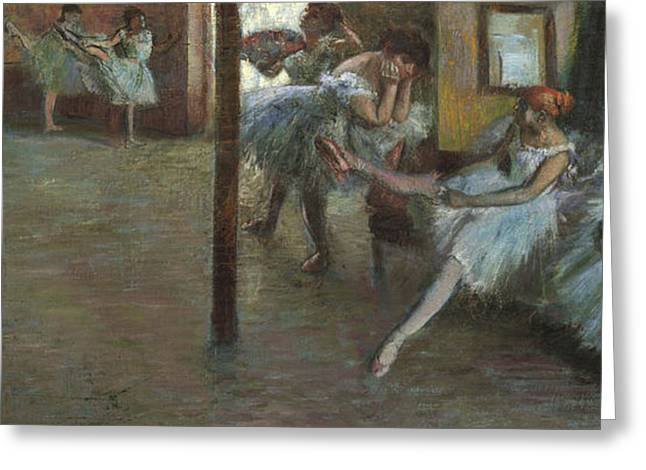 The Ballet Rehearsal, 1891 Greeting Card by Edgar Degas