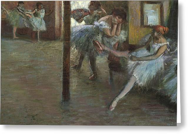 The Ballet Rehearsal, 1891 Greeting Card by Edgar Degas
