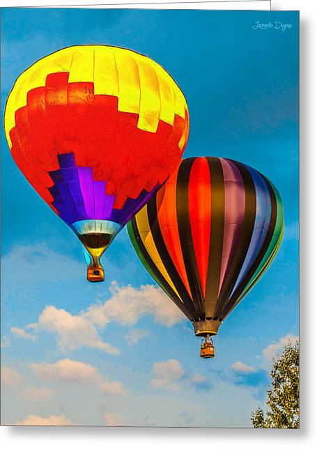 The Balloon Duet - Mm Greeting Card by Leonardo Digenio