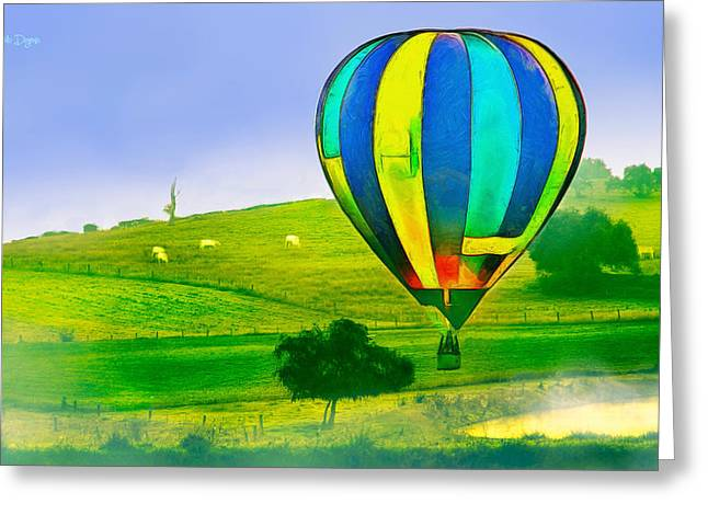 The Balloon In The Farm - Mm Greeting Card
