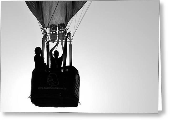 Greeting Card featuring the photograph The Balloon Pilot by AJ Schibig