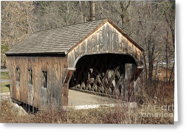 The Baltimore Covered Bridge - Springfield Vermont Usa Greeting Card
