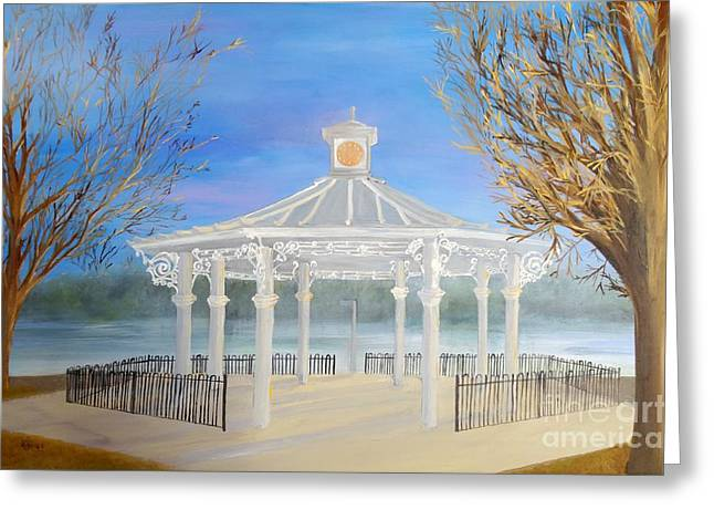 The Bandstand Basingstoke War Memorial Park Greeting Card