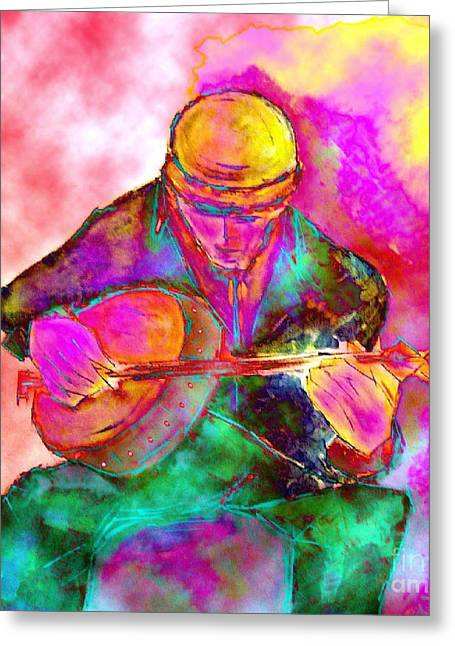 The Banjo Player Greeting Card