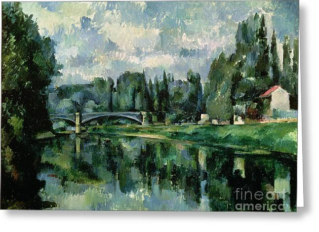 The Banks Of The Marne At Creteil Greeting Card by Paul Cezanne
